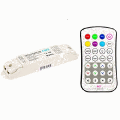 RGB контроллер для светодиодной ленты Varton 12-24 V IP20 135x30x20 мм c пультом, радиус 45 м (LTECH)