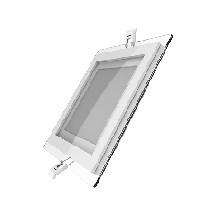 Светильник Gauss, квадратный с декоративным стеклом,160х160х30, D118x118  12W 3000K, 900 лм 1/40