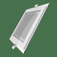 Светильник Gauss, квадратный с декоративным стеклом,200х200х30, D150х150, 18W 3000K, 1390лм 1/20