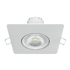 Светильник Gauss Квадрат. Белый, 6W,90х90х56, D65мм  500 Lm LED 2700K 1/40