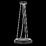 """Светодиодный светильник """"ВАРТОН"""" NIMBUS подвесной/накладной 35Вт 400х68мм 4000К IP40 с рассеивателем опал черный"""