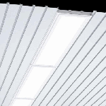 """Светодиодный светильник """"ВАРТОН"""" AL270 для реечных потолков 1325х308х70 мм с рассеивателем опал  IP54"""