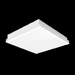 """Светодиодный светильник """"ВАРТОН"""" тип кромки Clip-In 600*600*100 мм опал ПК с равномерной засветкой"""