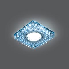 Светильник Gauss Backlight BL030  Квадрат. Кристал/Хром, Gu5.3, LED 4100K 1/40