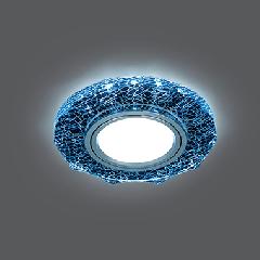 Светильник Gauss Backlight BL070 Круг гран. Черный/Серебро/Хром, Gu5.3, LED 4100K 1/40