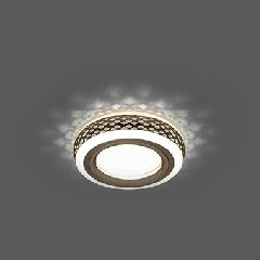 Светильник Gauss Backlight BL082 Кругл. Бронза/Белый, Gu5.3, 3W, LED 3000K 1/40