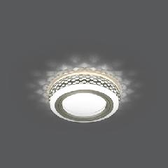 Светильник Gauss Backlight BL085 Кругл. Хром/Белый, Gu5.3, 3W, LED 3000K 1/40