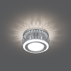 Светильник Gauss Backlight BL095 Кругл. Хром/Белый, Gu5.3, 3W, LED 3000K 1/30
