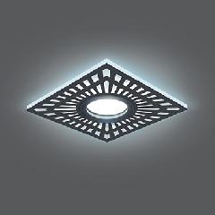 Светильник Gauss Backlight BL126 Квадрат. Черный, Gu5.3, 3W, LED 4000K 1/40