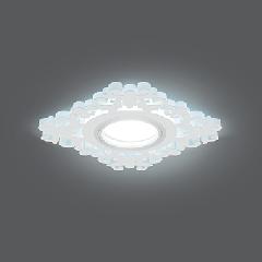 Светильник Gauss Backlight BL130 Квадрат/узор. Белый, Gu5.3, 3W, LED 4000K 1/40
