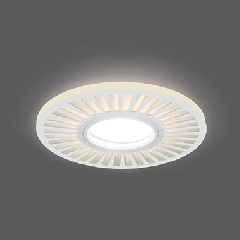 Светильник Gauss Backlight BL137 Кругл./узор. Белый, Gu5.3, 3W, LED 3000K 1/40