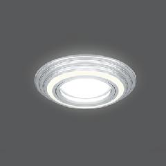 Светильник Gauss Backlight BL138 Кругл. Хром. Gu5.3, 3W, LED 3000K 1/40
