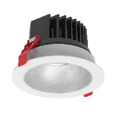 """Светодиодный светильник """"ВАРТОН"""" DL-SPARK встраиваемый 60° 120x88mm белый с матовым серебристым рефлектором"""