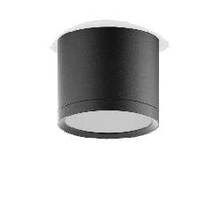LED светильник накладной с рассеивателем HD017 10W (черный) 4100K 88х75,720лм, 1/30