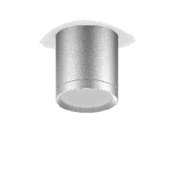 LED светильник накладной с рассеивателем HD019 6W (хром сатин) 4100K 68х75,420лм, 1/30