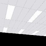 "Светодиодный светильник ""ВАРТОН"" тип кромки Microlook (Silhouette/Prelude 15) 1184*584*58 мм с равномерной засветкой"