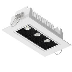 """Светодиодный светильник""""ВАРТОН"""" STELLAR встраиваемый поворотный 120x62x45mm 34° белый"""