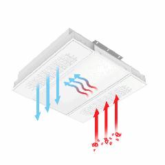 """Бактерицидный светодиодный светильник UV """"ВАРТОН"""" с UV-блоком встраиваемый 595x595x126мм IP40/IP54"""