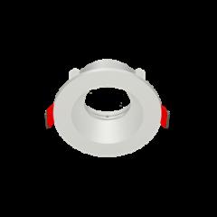 """Рамка для модульного светильника """"ВАРТОН"""" FLEX 50 01 круглая встраиваемая 90х30мм RAL9010"""