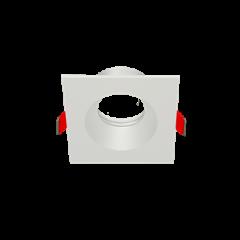 "Рамка для модульного светильника ""ВАРТОН"" FLEX 50 08 квадратная встраиваемая 90х90х30мм RAL9010"