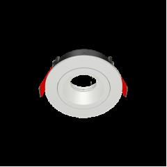 """Рамка для модульного светильника """"ВАРТОН"""" FLEX 50 02 круглая встраиваемая 110х45мм RAL9010 поворотная"""