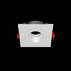 "Рамка для модульного светильника ""ВАРТОН"" FLEX 50 09 квадратная встраиваемая 110х110х45мм RAL9010 поворотная"