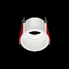 """Рамка для модульного светильника """"ВАРТОН"""" FLEX 50 03 круглая встраиваемая утопленная 85х65мм RAL 9010 поворотная"""