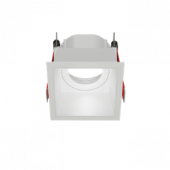 """Рамка для модульного светильника """"ВАРТОН"""" FLEX 50 10 квадратная встраиваемая утопленная 85х85х65мм RAL9010 поворотная"""