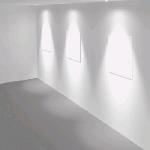"""Рамка для модульного светильника """"ВАРТОН"""" FLEX 50 06 круглая встраиваемая утопленная 95х80мм RAL9010 кососвет для освещения стен"""