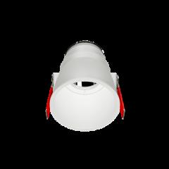 """Рамка для модульного светильника """"ВАРТОН"""" FLEX 50 04 круглая встраиваемая утопленная 95х70мм RAL9010"""