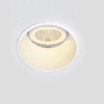 """Рамка для модульного светильника """"ВАРТОН"""" FLEX 50 05 круглая встраиваемая утопленная 95х70мм RAL 9010 поворотная"""