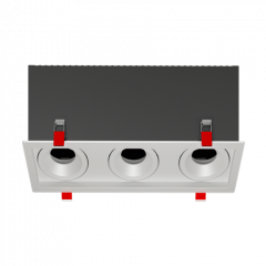 "Рамка для модульного светильника ""ВАРТОН"" FLEX 50 14 тройная встраиваемая 110х325х130мм RAL9010 поворотная"