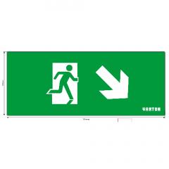 """пиктограмма """"ФИГУРА / СТРЕЛКА ВНИЗ ВПРАВО"""" для аварийно-эвакуационного светильника ip20 Varton"""
