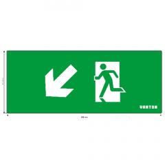 """пиктограмма """"ФИГУРА / СТРЕЛКА ВЛЕВО ВНИЗ"""" для аварийно-эвакуационного светильника ip20 Varton"""