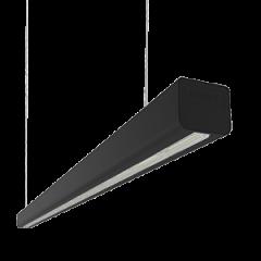 """Светодиодный светильник Mercury LED Mall """"ВАРТОН"""" 1460*66*58 мм опал RAL9005 черный матовый"""
