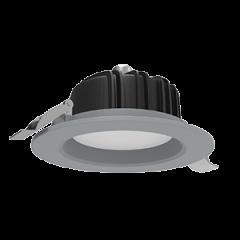 """Светильник светодиодный """"ВАРТОН"""" DL-01 Downlight круглый встраиваемый 230*84 IP54 серый матовый"""