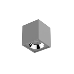 "Светильник LED ""ВАРТОН"" DL-02 Cube накладной 100*110 35° серый матовый"