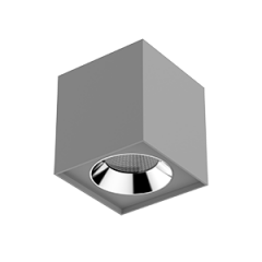 "Светильник LED ""ВАРТОН"" DL-02 Cube накладной 150*160 35° серый матовый"
