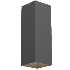 Cв-к настенный WL-Cube 10W 4000K угол 60° 80х80х230 мм IP54 RAL9005 черный матовый