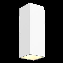 "Светодиодный светильник""ВАРТОН"" WL-Cube настенный10W 4000K 80х80х230 мм угол 60° IP54 RAL9010 белый матовый"