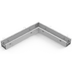 Соединитель L-образный с набором креплений для светильников серии G-Лайн 610*690*80 18Вт 6500К белый