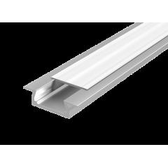 """Алюминиевый профиль """"Вартон"""" для LED ленты с рассеивателем встраиваемый 2000мм посадочное место 10мм"""