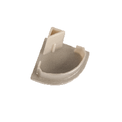 Торцевая крышка для углового профиля глухая