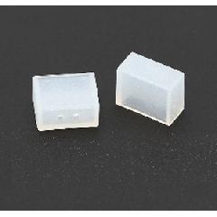 Силиконовая торцевая крышка для LED ленты 14,4W 10mm с двумя отверстиями для вывода проводов
