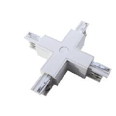 Соединитель X-образный белый