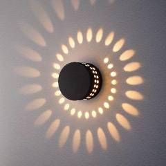 Уличный настенный светодиодный светильник Arkada 1585 4Вт черный