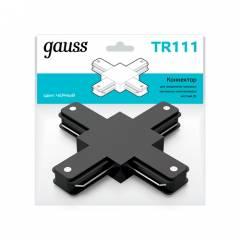 Коннектор Gauss для трековых шинопроводов (+) черный/белый