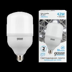 Лампа Gauss Elementary LED T120 E27 42W 3600/3700lm 180-240V 4000/6500K