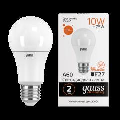 Лампа Gauss LED Elementary A60 10W E27 3000/6500K