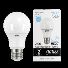 Лампа Gauss LED Elementary A60 7W E27 560lm 6500K